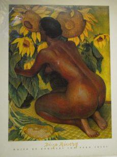 Mujer de Rodillas Con Vera Soles by Diego Rivera