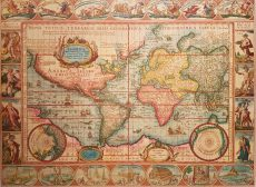 Nova Totius Terrarum Orbis Geographica Ac Hydrographica Tabula by Pieter Jansson and Jan Van Den Keere