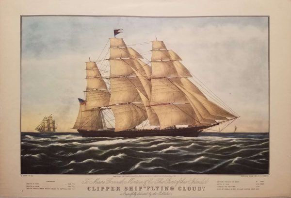 """Clipper Ship """"Flying Cloud"""" by Currier and Ives"""