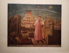 Dante & His Book Inferno by Domenico di Michelino